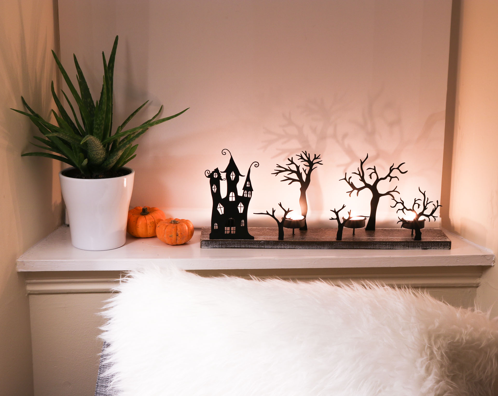 halloween fall decor living room