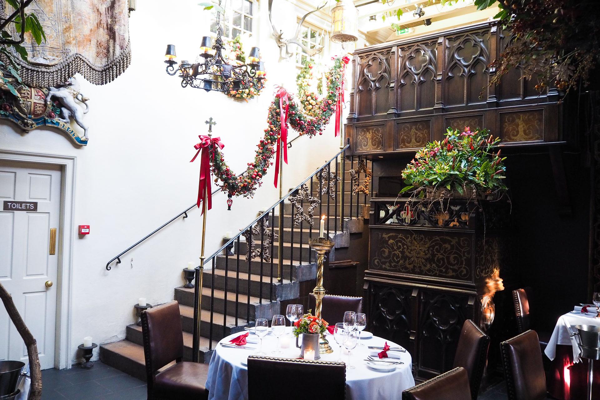 the witchery christmas. christmas in edinburgh food