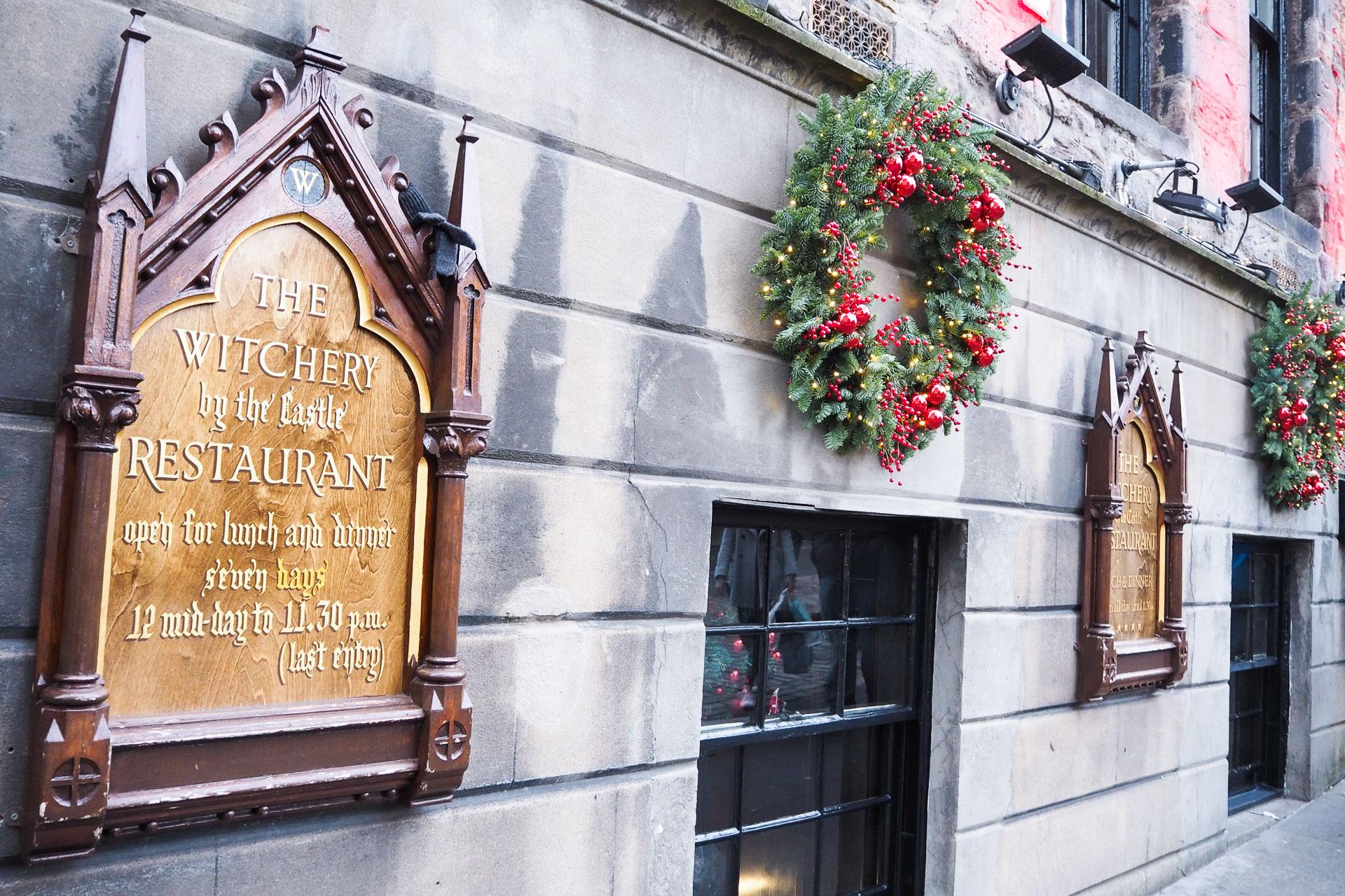 the witchery christmas. christmas in edinburgh
