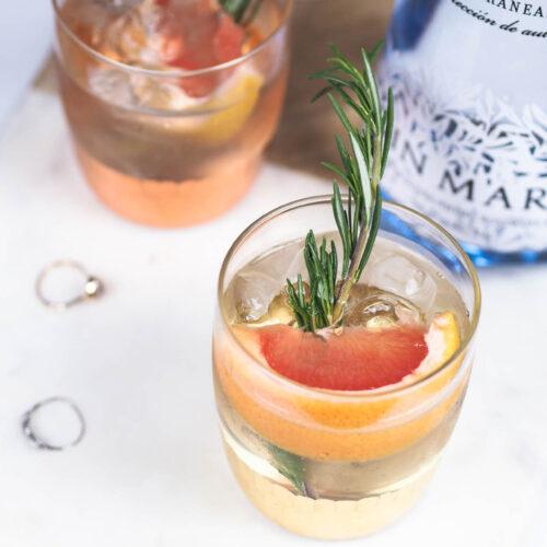 gin and tonic serve grapefruit elderflower