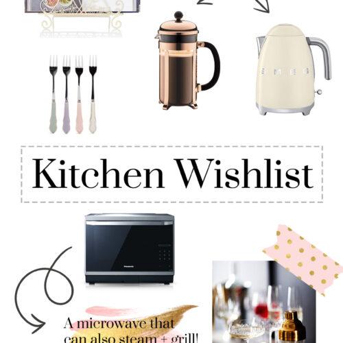 Kitchen wish list - kitchen appliances and homeware that I am lusting after!