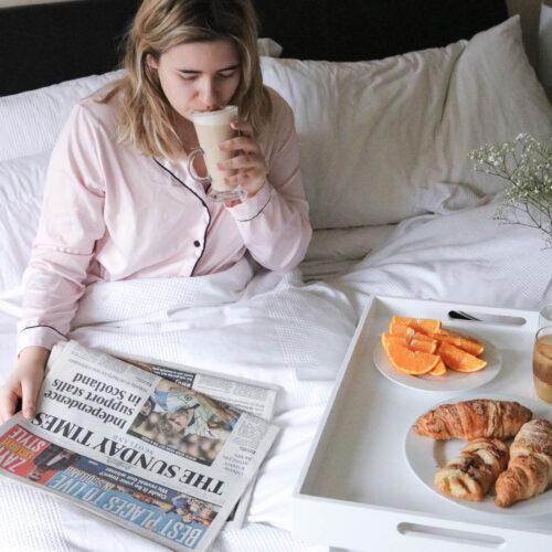 sunday post - breakfast in bed