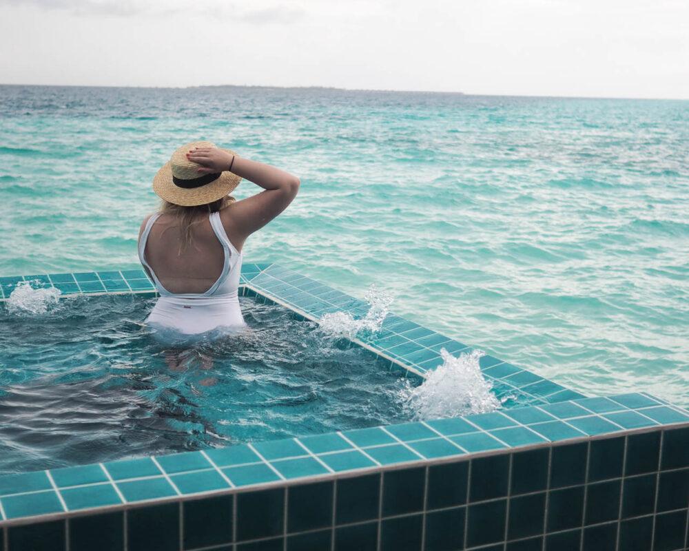 maldives spa sunset